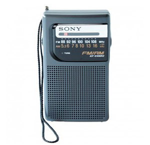 Sony ICFS10MK2 Portable AM/FM Battery Operated Radio - Survival Radio and Long-Distance Communication for Survival