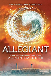 Allegiant, the third book in the Divergent trilogy, Veronica Roth.