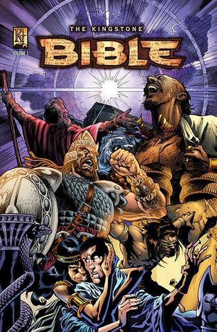 The Kingstone Bible Vol. 1, by Art A. Ayris (Author), Ben Avery (Author), Kelly Ayris (Editor), Danny Bulanadi (Illustrator), Jeff Slemons (Illustrator), Ben Prenevost (Illustrator), Javier Saltares (Illustrator), Rich Bonk (Illustrator), Geof Isherwood (Illustrator), Emily Kanalz (Illustrator)