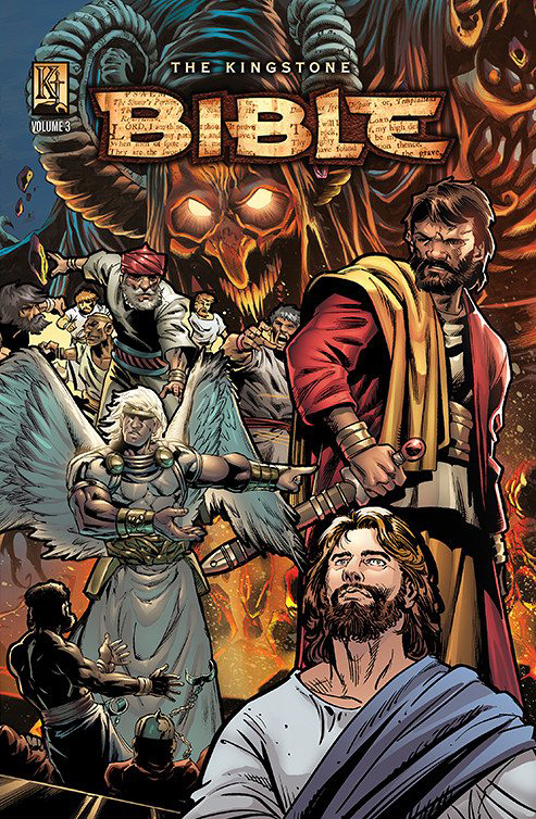 The Kingstone Bible Vol. 3, by Art A. Ayris (Author), Ben Avery (Author), Kelly Ayris (Editor), Danny Bulanadi (Illustrator), Jeff Slemons (Illustrator), Ben Prenevost (Illustrator), Javier Saltares (Illustrator), Rich Bonk (Illustrator), Geof Isherwood (Illustrator), Emily Kanalz (Illustrator)