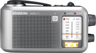 Sangean MMR-77 Portable Crank and Battery Powered Emergency Radio
