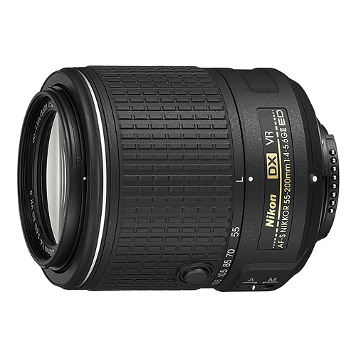 Nikon AF-S DX NIKKOR 55-200MM f/4-5.6G ED Vibration Reduction II Zoom Lens with Auto Focus for Nikon DSLR Cameras - The Most Essential Survival Gear / Equipment