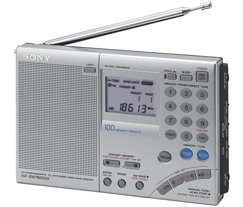Shortwave Radio with SSB — Sony ICF-SW7600GX model