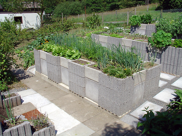 Concrete Raised Garden Bed, Permaculture - Sustainable Living